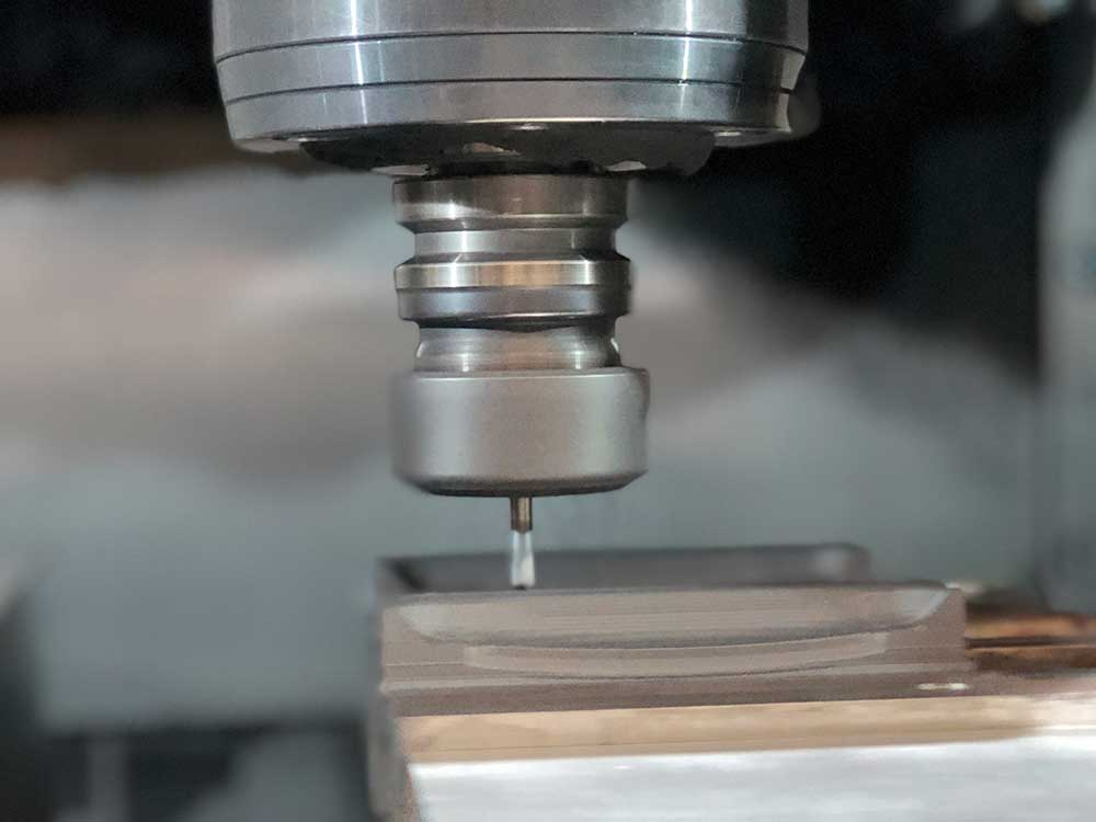 Close-up of CNC Milling Service at Saturn Industries in Hudson NY
